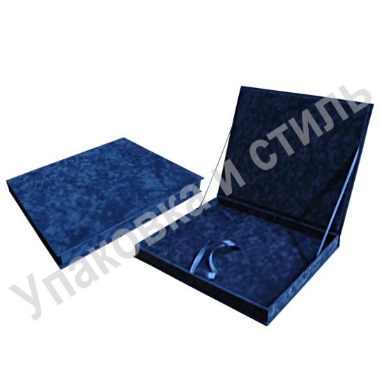 Подарочный флокированный футляр для плакетки