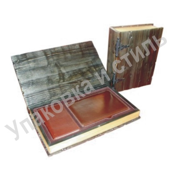 Подарочный деревянный короб для ежедневника