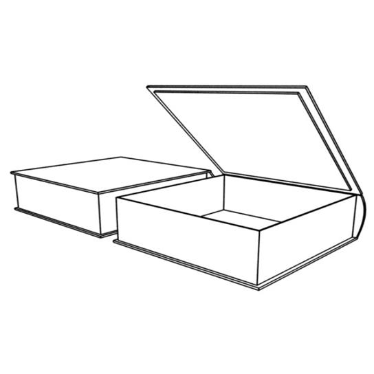 Подарочная коробка с гнутым задним бортом