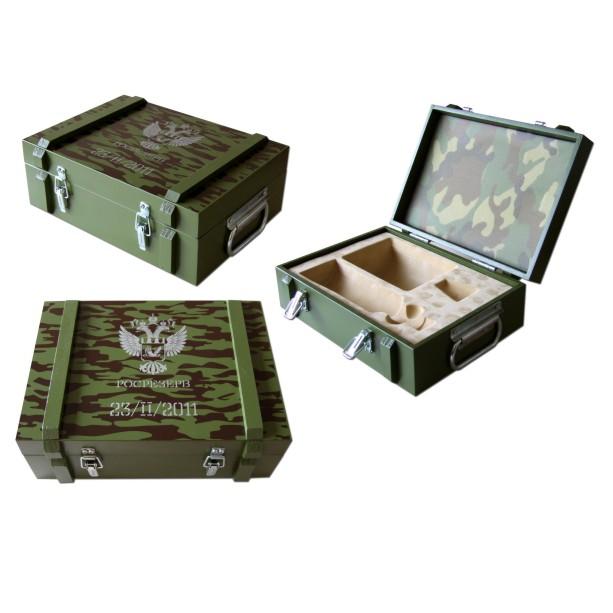 Подарочный деревянный ящик с ложементом