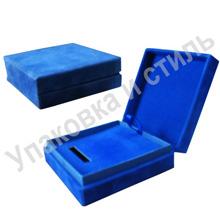 Подарочная ювелирная коробка, обтянутая флоком